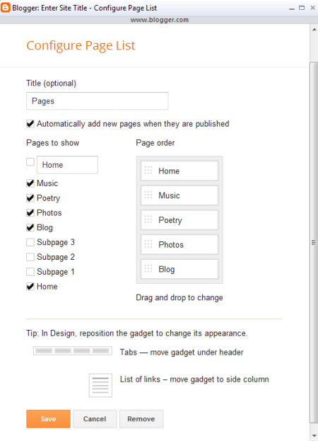 How to use Blogger templates