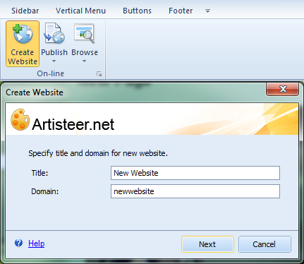 how to create a new website account