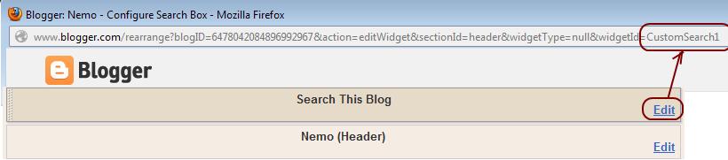 Blogger Gadget Id