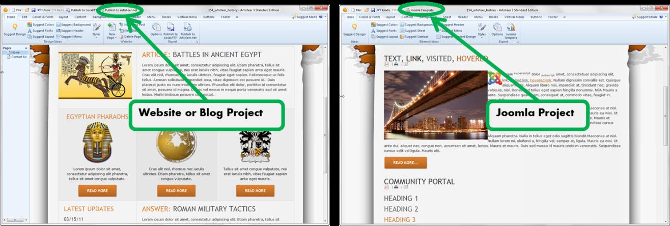 Artisteer Automated Web Designer